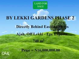 Land For Sale With C of O Title By Lekki Gardens Phase 2