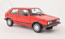 Die cast VW Golf 1 GTI 1:18 model car by Welly NEW 4 colours available