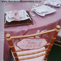 Wedding deco and equipment hire