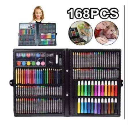 New 168 Pc Kids Mega Art Colouring Set In Case Drawing Painting Sketc Toys Games Remote Control 1064343374