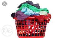 We wash your clothes (laundry)