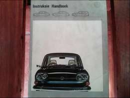 VW 411 or 412 owners manual