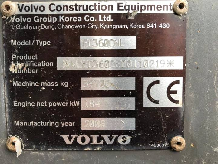 Volvo Ec360 C **bj 2008 * 6450h* Hammerltg.** - 2008 - image 20