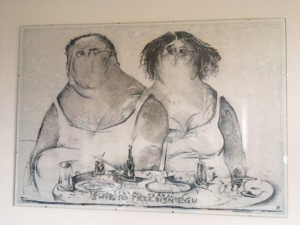 Plakat Grafika Antyrama Ryszard Kaja święto Przebisniegu