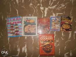 Cookery books.