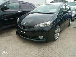 Toyota Wish black sportish 2010 model. KCP number Loaded with Alloy r