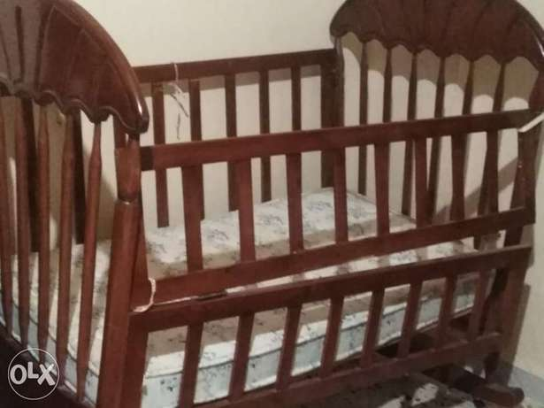 Bed for baby+فرشة