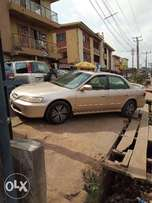 A clean, smooth n neatly used 2001 Honda Accord, v4, ac, fabrics