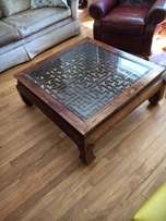 Solid rosewood coffee table