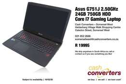 Asus G751J 2.50GHz 24GB 750GB HDD Core i7 Gaming Laptop