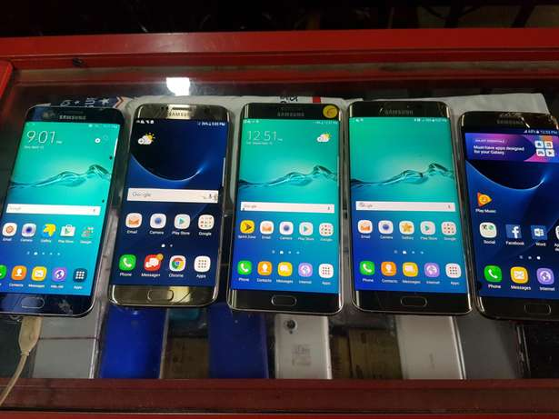 Cracked Samsung galaxy s6 edge plus and s7 edge all working perfect ok Ikeja - image 1