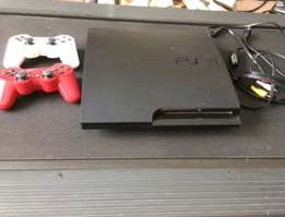 Red white ps3 chipped machine.
