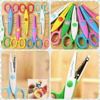 6pc/lot Paper Craft Scissors 6 Cutting Patterns
