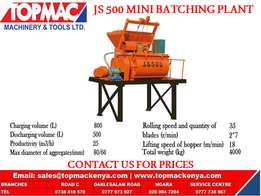 JS 500 mini batching plant