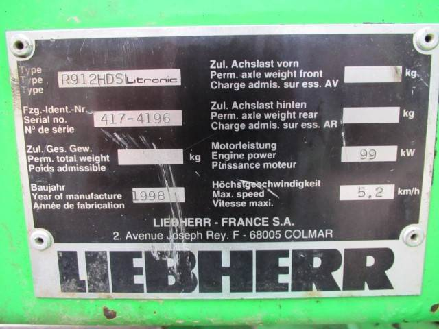 Liebherr R 912 Hdsl Litronic - 1998 - image 5