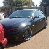 335i bmw convertable forsale with 20 inch rezax rims