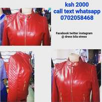 Red leather jackets