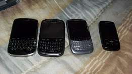 Hi I have 3 Blackberrys and 1 E250 FOR SALE R1200