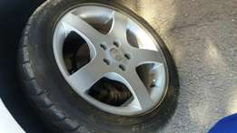 Rims and tires ,till in a good conditions