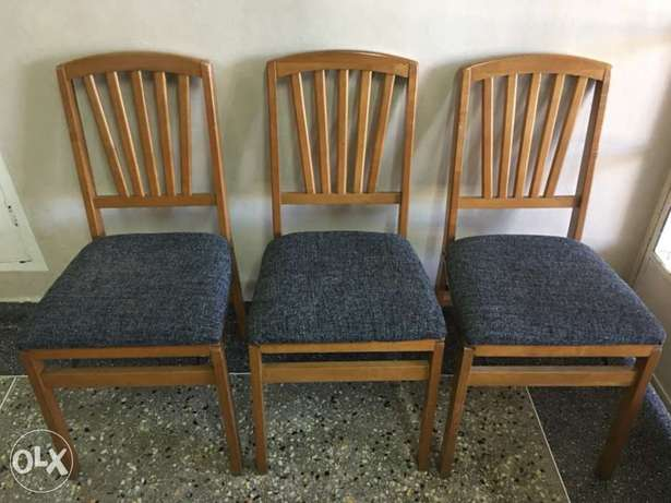 Newly reupholstered folding chairs Tudor Four - image 1