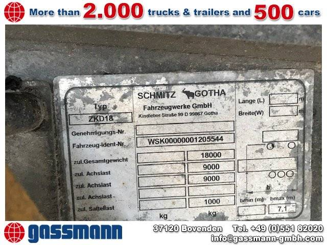 Schmitz Cargobull ZKD 18-4.9 ca. 10,3m³ - 2006