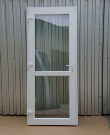 Drzwi Pcv 90200 Wejściowe Białe Nowe Pvc Zewnętrzne