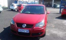VW Polo TDI 1.9 Model 2008 5 Door Colour Red Factory A/C & CD Player