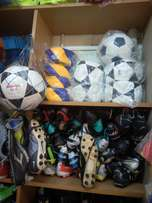 Balls and soccer boots