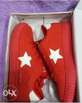 original red affordable unisex sneakers