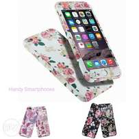 Flower Hybrid 360° Shockproof Cases Tempered Glass For iPhone 6