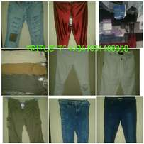 Men fairly used jeans and pants trouser