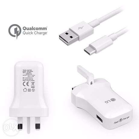 Genuine LG G5 Quick charge 3.0 Charger with genuine USB type A-C cable Kilimani - image 1