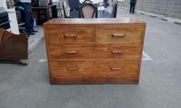 Hardwood (mvule) Chest of Drawers