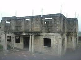An Uncompleted (Executive) Duplex at roofing level for Sale at Oke-Aro