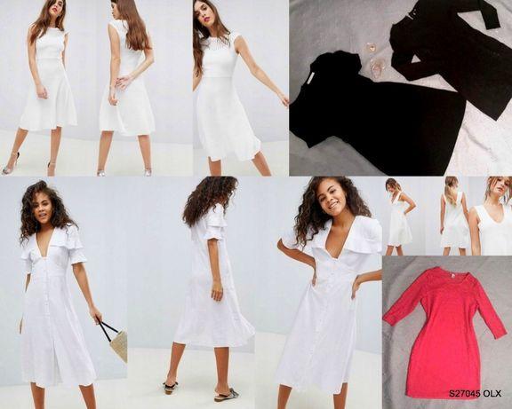 ae3f24f1d9 Sukienki Zestaw suknie lato wiosna dzianinowa koronkowa 42 H M+ Gratis  Myszków - image 1