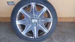 4 piece Original Chrome steel low profile rims, sits 19 inches tire