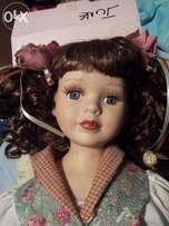 Love her! Hand painted Porcelain Doll