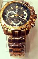 Casio edifice yellow gold