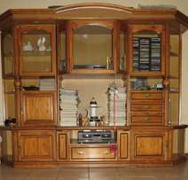 4 Piece Wall unit in excellent condition with down lights.
