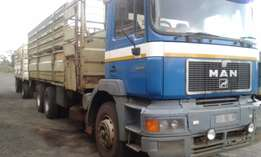 Man 33-373 Dubble Diff With 7.2m Cattle Body +Trailer (1999 Model) Quo