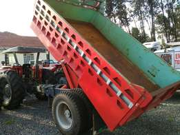 Tipping and non-tipping trailers.