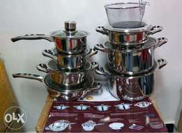 21PC's Stainless steel Mary cooking pans set