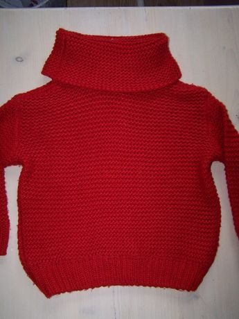 Zestaw 128cm sweter Zara czerwony i nowa tiulowa spódnica