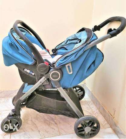 Graco baby travel system (baby stroller + car seat fixed on stroller)