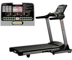 Used 1 year commercial Treadmill Fitlux 555 foldable mill.