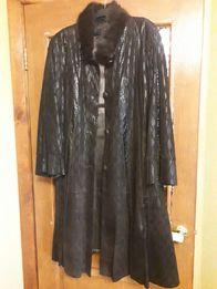 Стильное кожаное пальто 50b63eec60f41