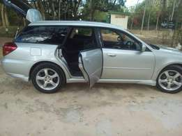 A well used Subaru legacy 2005 model almost new