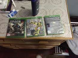 Xbox 1 Injustice 2, Fifa 17 and Gears of war 4