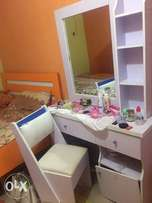Bed frame and dressing mirror