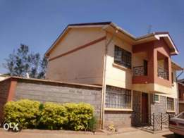 vacant 4bdrm en suit mansionette with an SQ in A gated court 55k